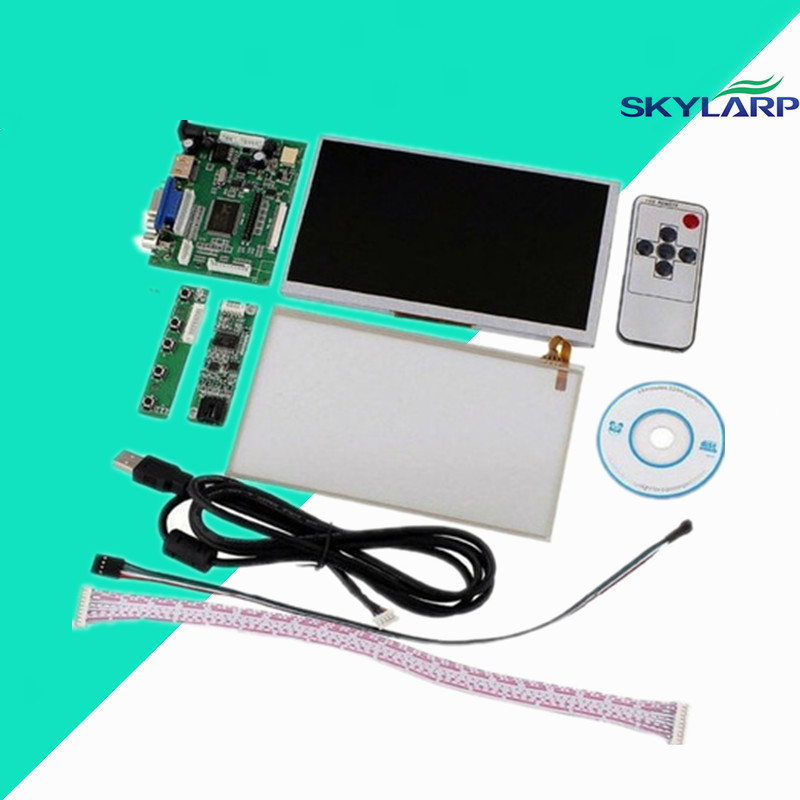 skylarpu for INNOLUX Raspberry Pi LCD Touch Screen Display TFT Monitor AT070TN90 Touchscreen Kit HDMI VGA Input Driver Board skylarpu 7 inch raspberry pi lcd screen tft monitor for at070tn90 with hdmi vga input driver board controller without touch