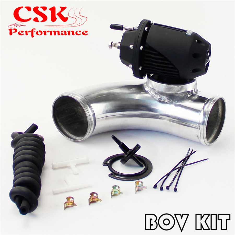 """2.5/"""" 90 Degree For SQV SSQV BOV Blow Off Adapter Flange Aluminum Charge J Pipe"""