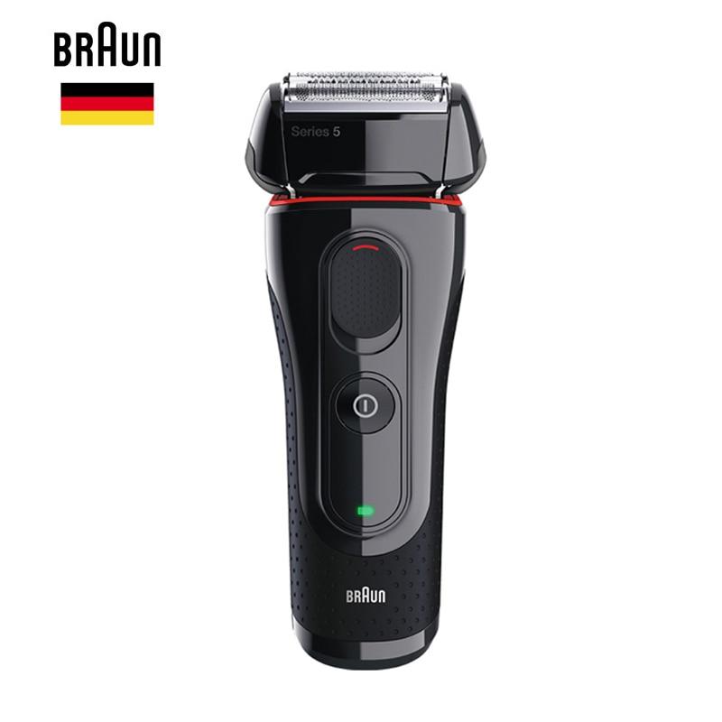 Braun Men'S Electric Foil Shaver Series 5 5030s Rechargeable Razor For Men Beard Shaving Machine Precision Trimmer 100 240v