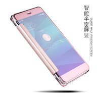 Huawei P10 Case Luxury Clear View Mirror VElectroplating Cover Case For Flip Huawei P10 Mobile Phone