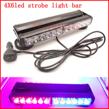 police Strobe Lights 24 LED Warning light car roof Light led mini light bar with magnet 12V red blue white amber green