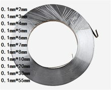 цены 1kg 0.1mm * 3mm Pure Nickel Plate Strap Strip Sheets 99.96% pure nickel for Battery electrode electrode Spot Welding Machine