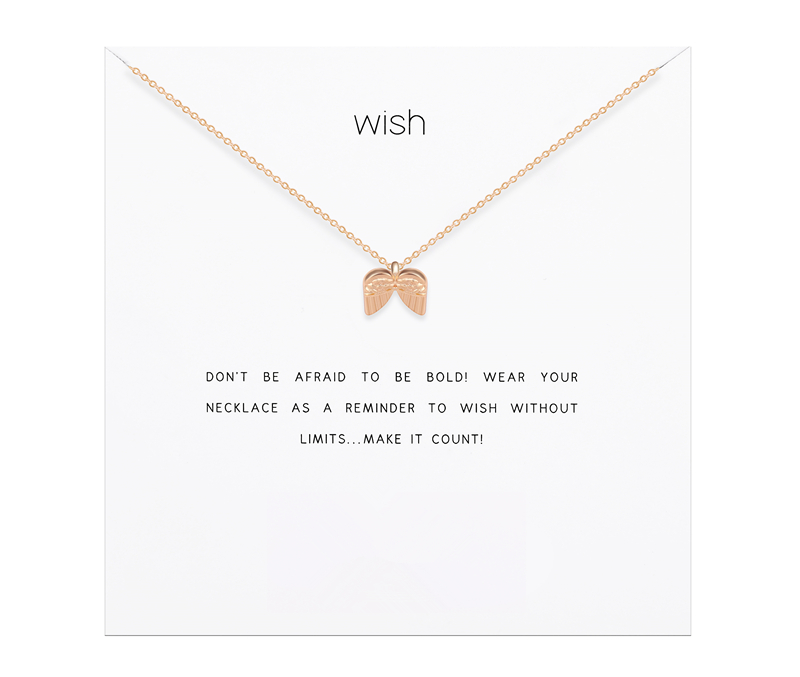 Sparkling guardian angel New Wing Protect the angel Pendant necklace Clavicle Chain Statement Necklace Women FOMALHAUT Jewelry