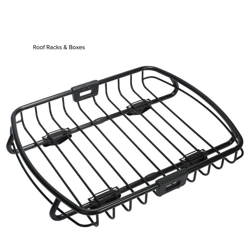 Universal Auto Car Roof Rack Cross Bar Cargo Basket Outdoor Rooftop