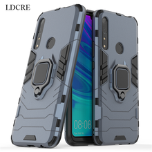 For Huawei Y9 Prime 2019 Case Matel Finger Ring Kickstand Hard Phone Cover