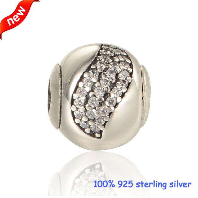 Encaixa pandora essência bracelet & necklace hapiness grânulos de prata com cz new 925 prata esterlina encantos diy atacado 08st107