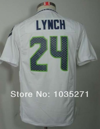 New Material #24 Marshawn Lynch Kids/Youth Jersey,Stitched Logo Embroidery