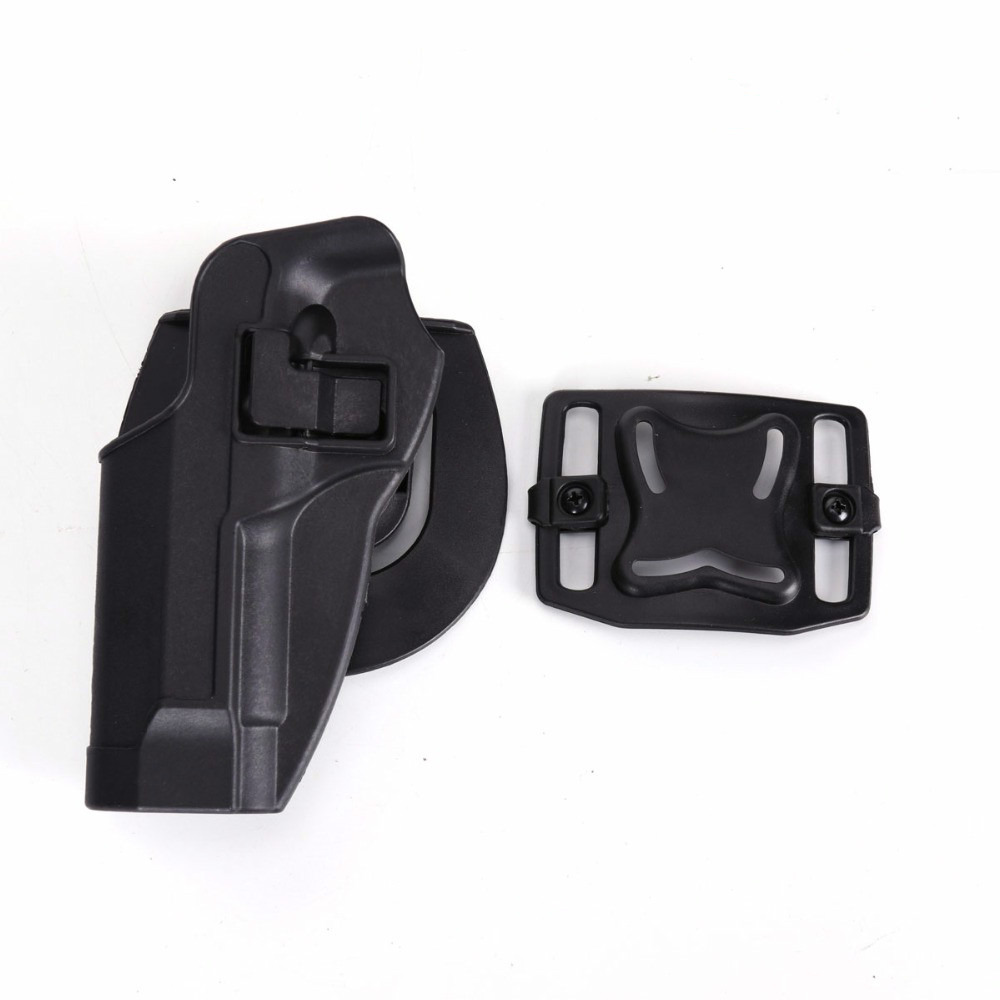 Image 3 - 2017 New Arrival CQC M92 1set pistol gun Holster Polymer ABS Plastic waist belt gun holster fit Airsoft right hand-in Hunting Gun Accessories from Sports & Entertainment