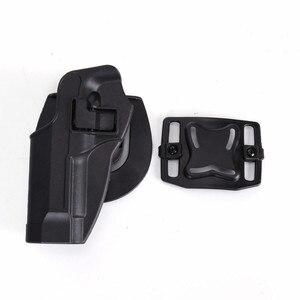 Image 3 - 2017 New Arrival CQC M92 1set pistol gun Holster Polymer ABS Plastic waist belt gun holster fit Airsoft right hand
