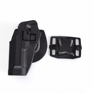 Image 3 - 2017 neue Ankunft CQC M92 1 set pistole pistole Holster Polymer ABS Kunststoff taille gürtel pistole holster fit Airsoft rechts hand