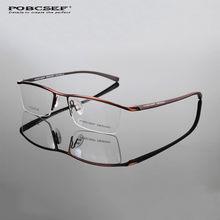 d2d5f213d1cc5 Óculos de titânio quadro homens TR90 computador miopia vidros ópticos oculos  de grau lerdo TH8218 Negócios metade armação dos óc.