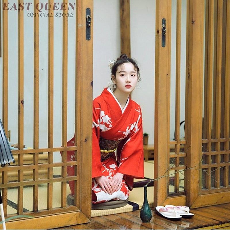 Japanese Kimono Traditional Dress Cosplay Female Yukata Women Haori Japan Geisha Costume Obi Kimonos Woman 2018 KK2247