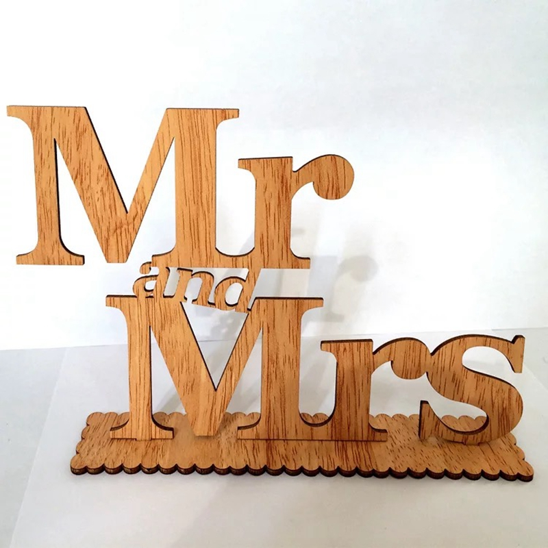wooden words MR&MRS wood sign plaque letters craft gift ...