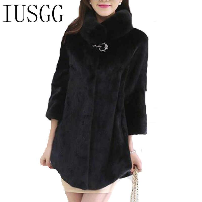 Норковые кашемировые пальто, длинная куртка, воротник-стойка, теплая белая норковая шуба, для молодых женщин, норковая велент шуба, натуральная черная шуба
