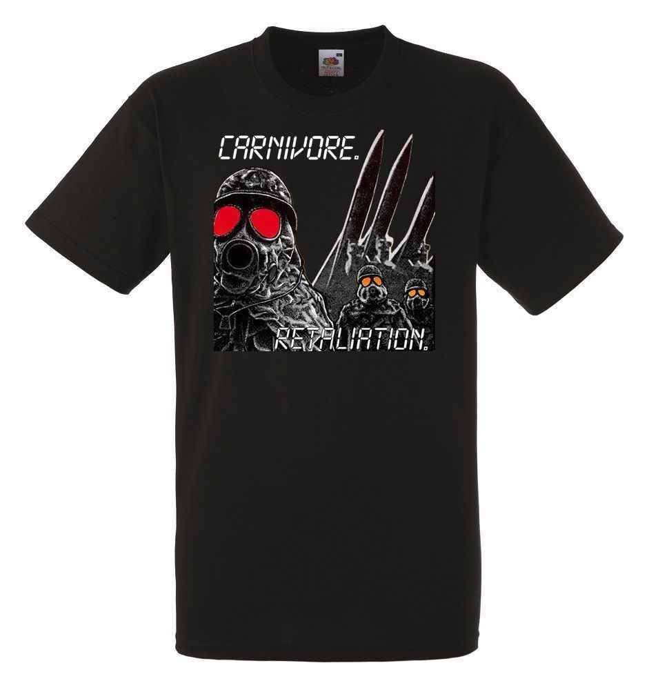 CARNIVORE VERGELDING Heren Unisex Black Rock T-shirt NIEUWE Maten S-XXXL