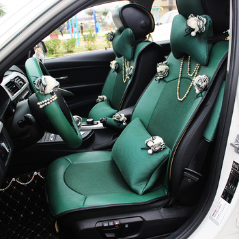 Car Styling Leather Universal Seat Cover Pear Flower Auto Interior Accessories Cushion For Women
