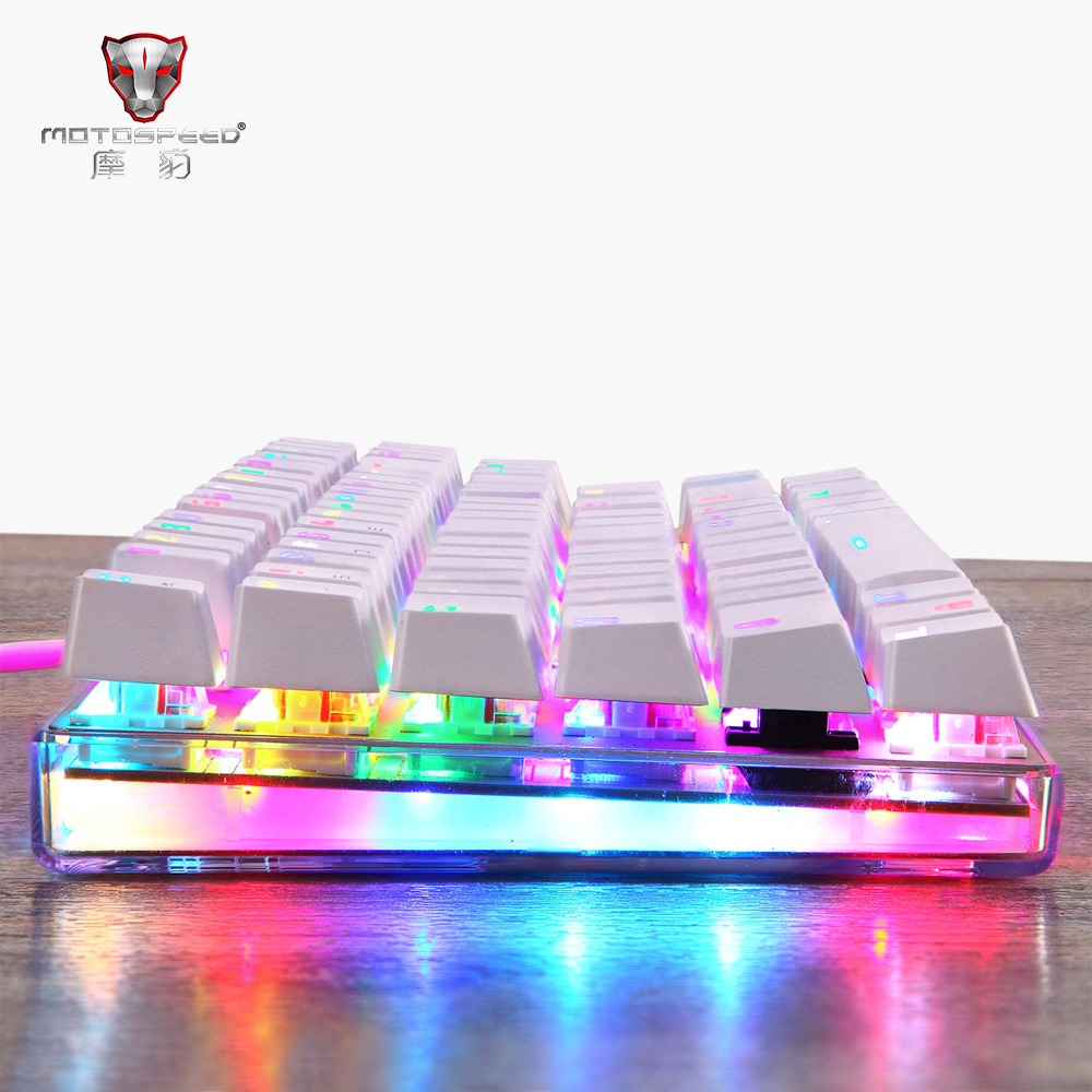 Motospeed K87S NKRO Mechanical Gaming&Typing Keyboard with RGB Backlight white Blue&Red Switch WithBox USB Wired Non-slip Design