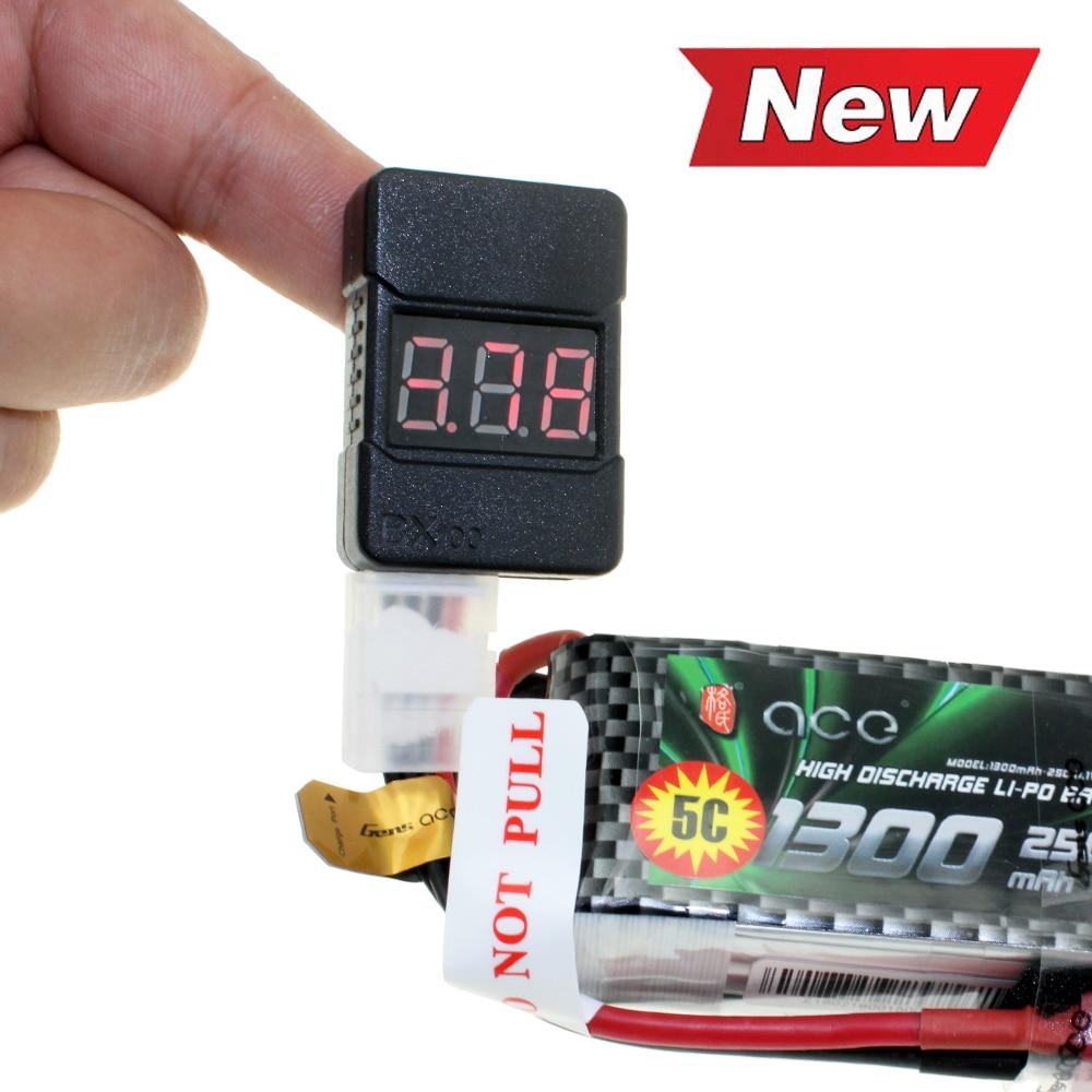 Low Voltage Alarm Voltage Tester 1-8S LiPo//Li-ion//Fe Battery Buzzer