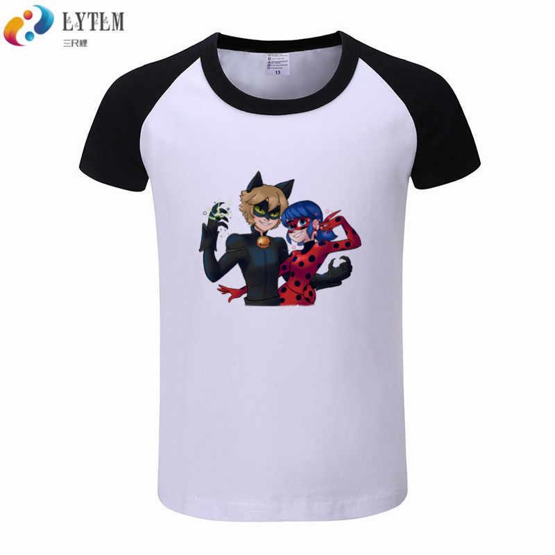 eba7d6123e74f LYTLM Toddler Kids Clothes Tales of Ladybug Cat Noir T-shirt Baby  Accessories Vetement Enfant