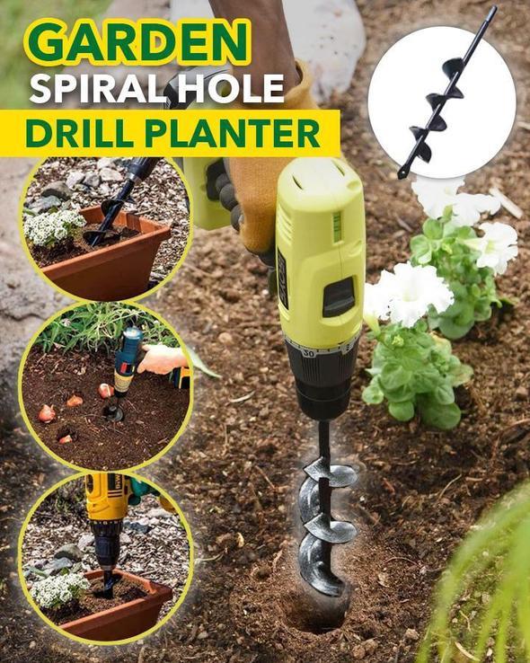 Newly 2019 Garden Auger Spiral Drill Bit Accessories For Planting Bedding Bulbs Seedlings Spiral Planting & Grass Auger