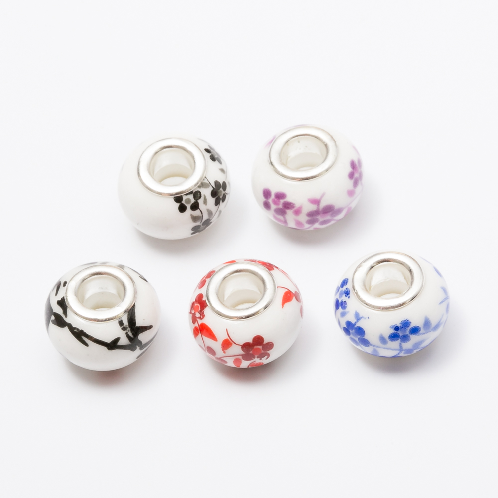 Free shipping 30pcs Murano ceramics beads European charm bead Fit Pandora Charms Bracelets Women Fashion Bead js1453