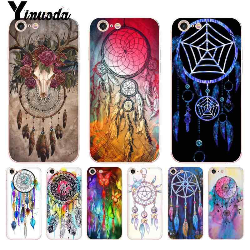 Vivid Yinuoda Dream Catcher Caso Tampa Do Telefone Transparente para iPhone 8 7 6 6S Plus X 5 5S SE 5C XS XR Cases11 11pro 11promax