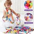 Crianças/Crianças Corda Ao Longo do Laço de Madeira Contas de Threading Banheira Formas Brinquedos para Crianças com 50 Contas