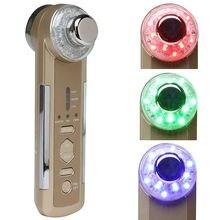 2016 New Arrival Photon Ultradźwiękowy Beauty Machine 4w1 LED Elektryczny Masażer Ciała Twarzy Uroda Pielęgnacja Twarzy