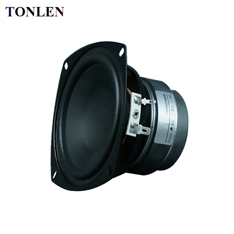 TONLEN 1PCS 4 inch Subwoofer Speaker 4 ohm 8 ohm 15 W HIFI Speakers Bluetooth Portable Horn Full Range Speakers Car Sub Woofer
