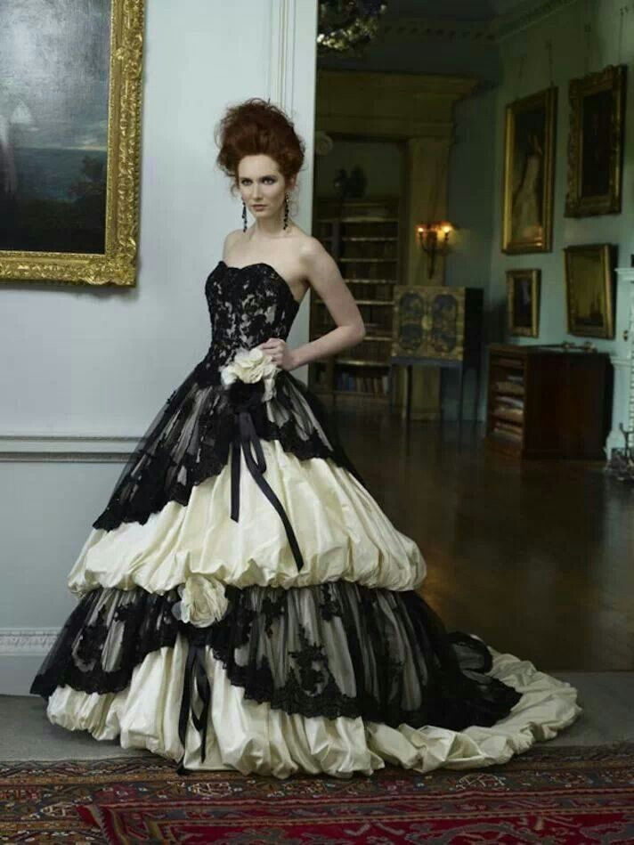 Compare Prices on Victorian Gothic Wedding Dress Black and White ...