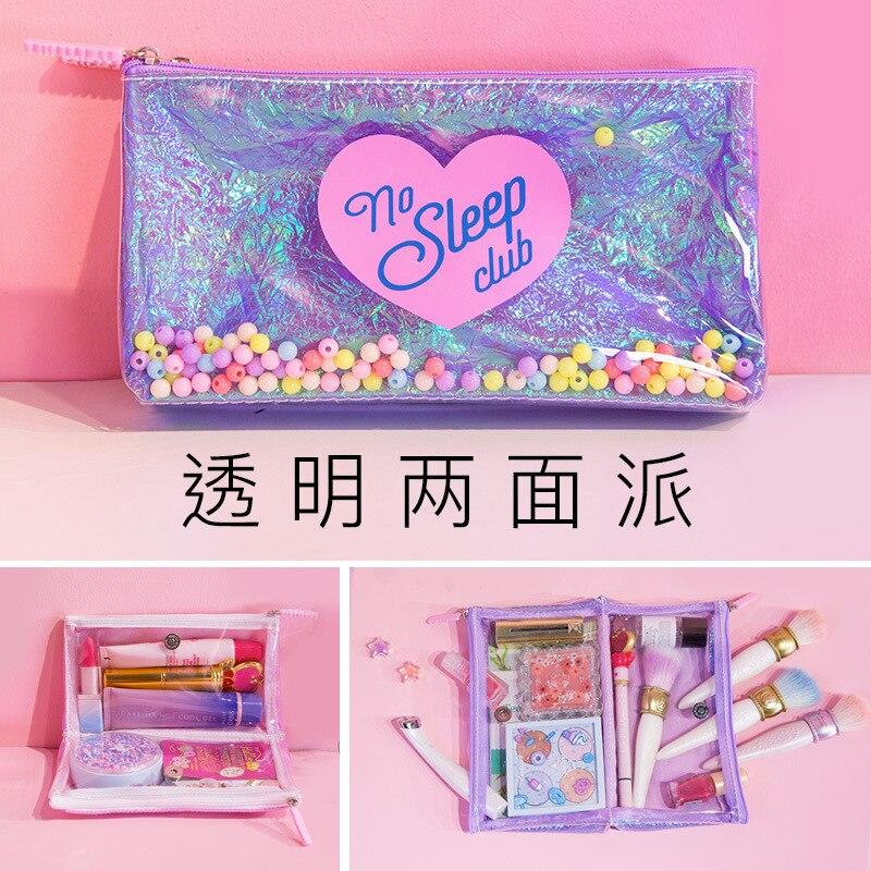 1Pcs Kawaii Pencil Case Transparent Candy PU Gift Estuches School Pencil Box Pencilcase Pencil Bag School Supplies Stationery