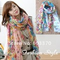 Fashion Beautiful Flower Scarf Large Rectangle Scarf Shawls