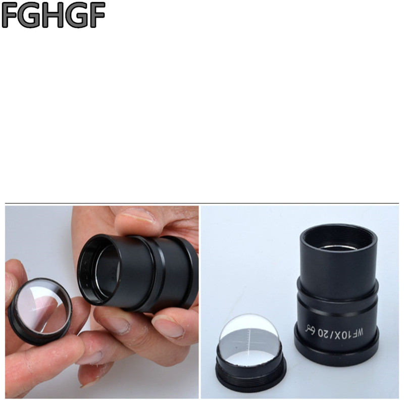 FGHGF WF10X Wide Angle Eyepiece Stereo Microscope Eyepiece DIV 10 Micron Scale Calibration Slide Interface Aperture 30mm in Microscopes from Tools