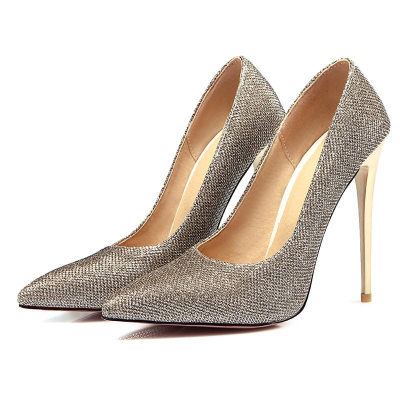 vendita lavoro argento dimensioni Solid donna grandi pompe calda Lady a 2018 scarpe 47 scarpe alto 34 tacchi punta oro tacco ufficio Asumer Pu nero 5RqwCpx