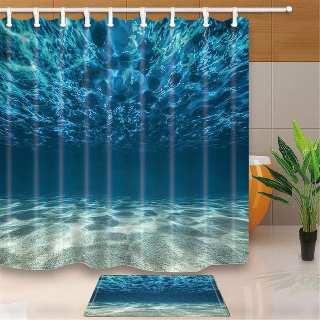 3D Fondali Marini Per La Casa di Design Bagno Tessuto Della Decorazione Della Te