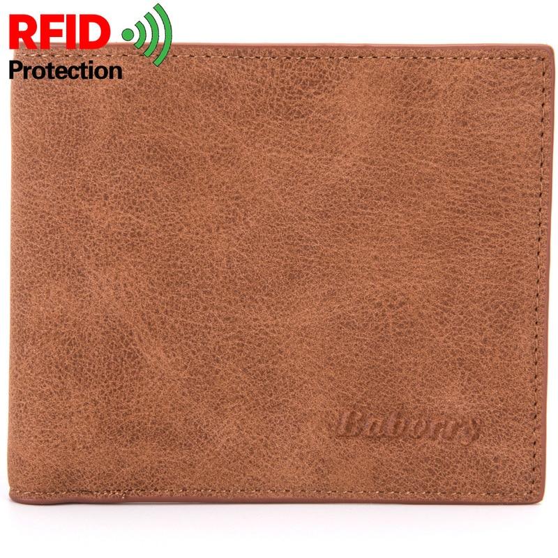 2019 Fashion Rfid Men Wallets Mens Wallet with Coin Bag Zipper Small Mini Wallet Purses New Design Dollar Wallet Slim Money Bag 1