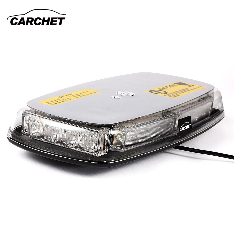 CARCHET Vehicle Car Roof Lights 20W Top Yellow 24 LED Emergency Warning Strobe Light Lamp Magnetic Base Strobe Light 2017 NEW izztoss yellow taxi cab roof top sign light lamp magnetic large size car vehicle indicator lights
