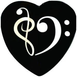 10 Unidslote Bass Clef Y Clave De Sol Colgante De Corazón Música