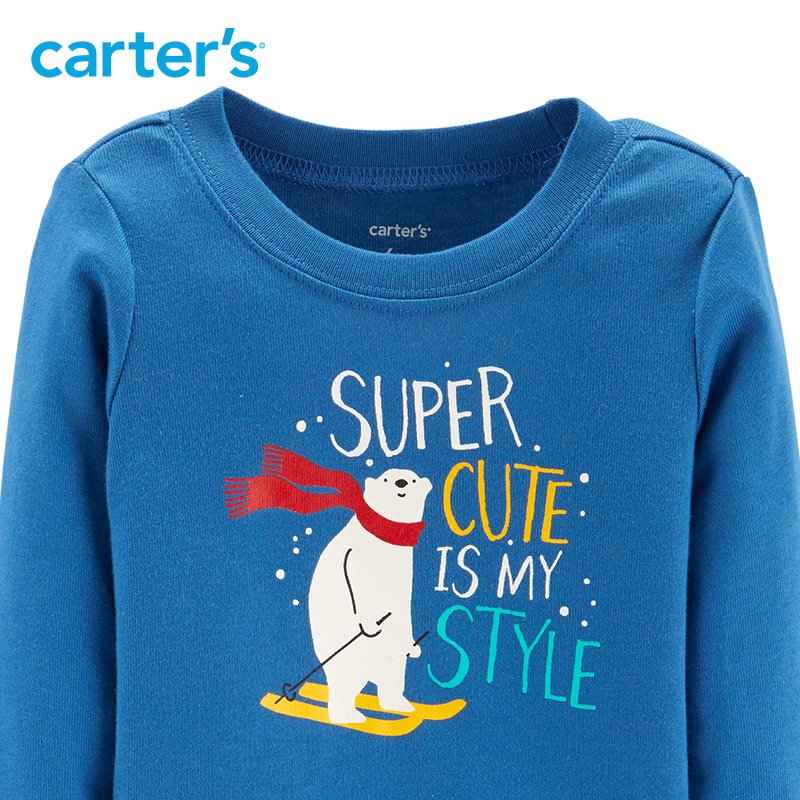 4a4e3907688dc Carters Christmas Baby boy clothes 2 Piece Polar Bear Bodysuit Pant Set  cute baby autumn winter clothing 121I920-in Clothing Sets from Mother &  Kids on ...
