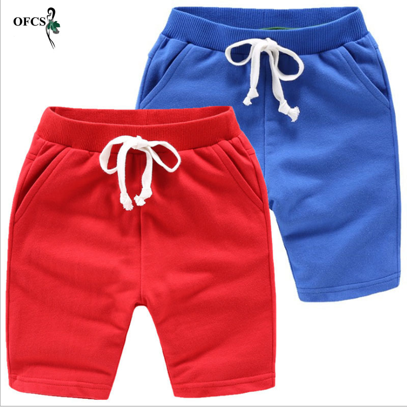 Hot Selling Solid 8 Colors Kids Trousers Children Pants For Baby Boys And Girl's Summer Beach Loose Shorts Retail Size 80-150cm