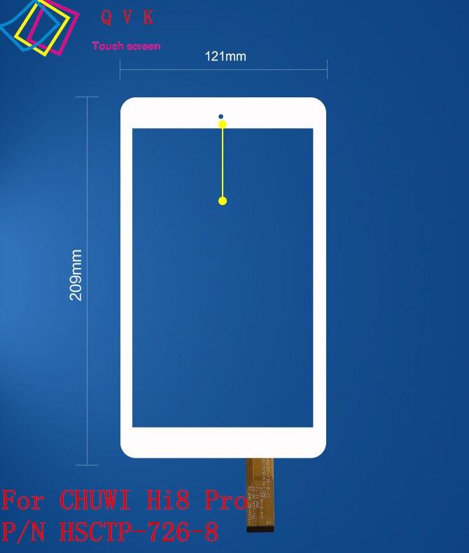 8 pollice per CHUWI Hi8 pro CW1513 tablet pc capacitivo dello schermo di tocco di vetro digitizer pannello di P/N HSCTP-489-8 HSCTP-726-8-V1