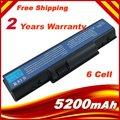 6 células 5200 mAh bateria do portátil para Acer Aspire 5738 Aspire 5738 G 5738DG 5738DZG 5738PG 5738PZG Aspire 5738Z Aspire 5738ZG