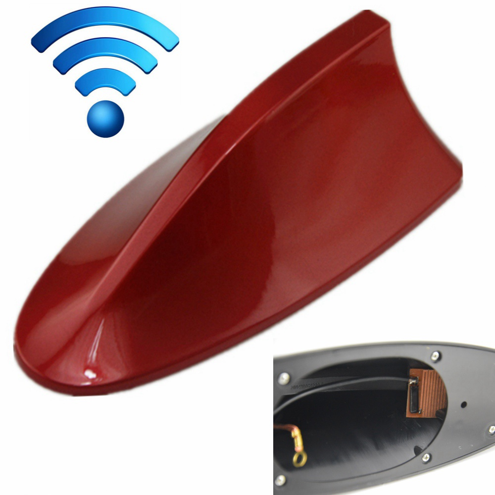 Universal Car Auto SUV Roof Special Radio FM Shark Fin Antenna Aerial Signal Auto Accessories Red 8 Colors Aerials