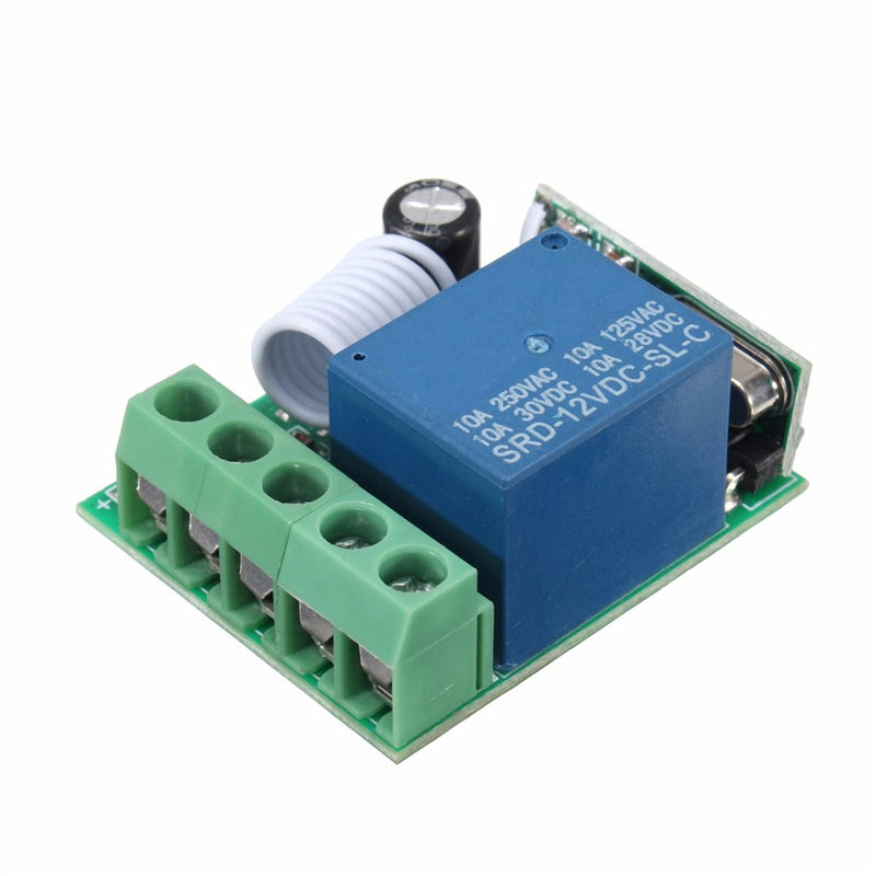 315MHz 12V 1 Channel Power Supply Wireless Remote Control Relay Switch Self Lock RC Relay