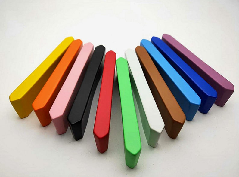 2 5 quot 5 quot Colorful Drawer Pulls Cabinet Handle Door Handle Dresser Pull Handles Blue Orange Yellow Red Pink Green Blue Black in Cabinet Pulls from Home Improvement