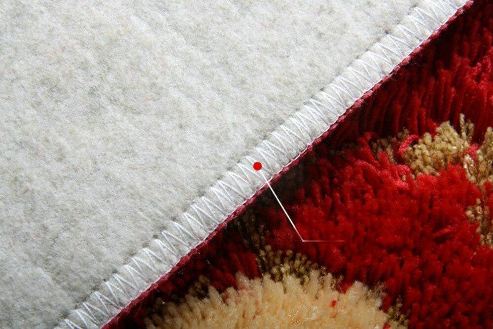 NiceRug Épaississement Salle De Bains antidérapant Tapis Absorbants Rouge Fleurs Imprimer Intérieur Carpet Tapis de Sol Rectangle Cuisine Tapis Tapp - 5