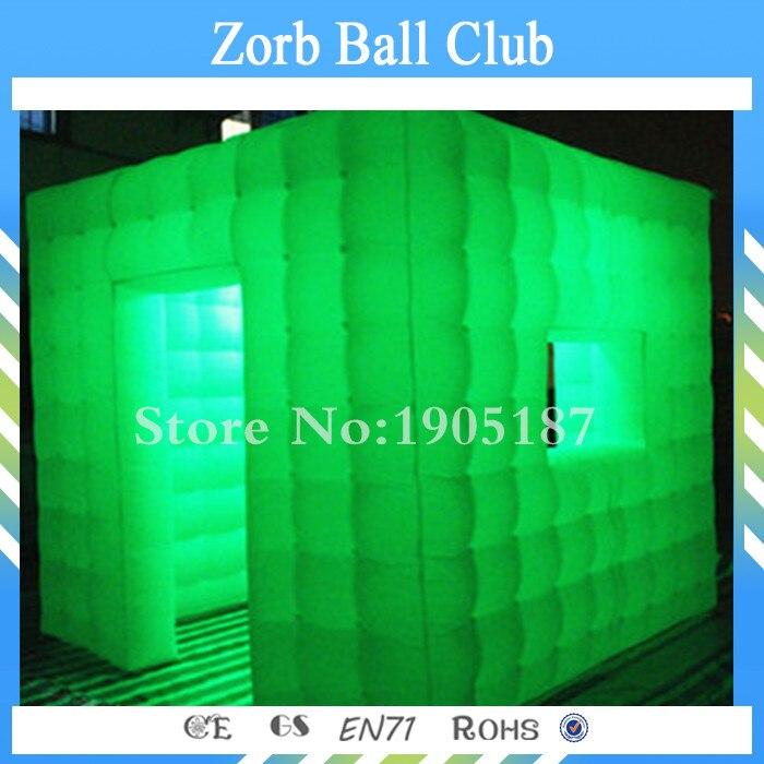 Livraison gratuite meilleure tente gonflable LED cabine Photo cabine gonflable