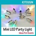 (10 Peças/lote) Congelados Decorações Do Partido Suprimentos Pequena Bateria Operado Luzes De Natal Levou Para A Lanterna De Papel Balões