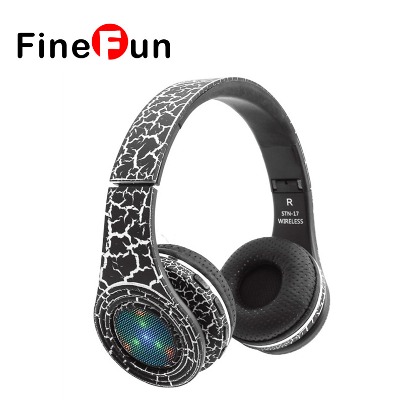 ФОТО Original KUBITE STN-17 Bluetooth 4.1 Headphone Wireless Headband Earphone Hands Free Music With LED MF/TF for all Smartphone