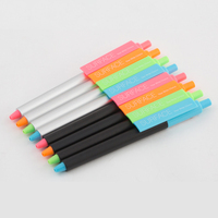 KACO SURFACE 10 Colors For Choose Click Gel Pen Black Ink 0 5mm Broad Clip Unisex